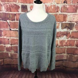 Gray Loft Cotton Sweater XXL